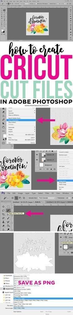 With just a little design experience, you can create Cricut Cut files in Adobe Photoshop with this tutorial! Use your own graphics or purchased designs!