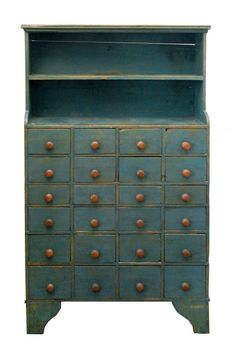Blue Apothecary Cupboard
