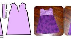 Se avete deciso di realizzare un abito per la vostra bambina con il fai da te, ecco a voi un cartamodello facile e veloce da fare.