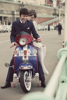 Wedding Transport - The Mod's loved their scooters, the Bride & Groom can get whisked away on a Vespa! Xx