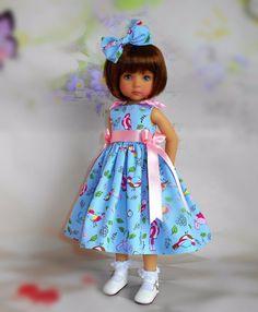Handmade dress & hair bow fits Dianna Effner little darling 13 doll