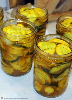 "Old-Fashioned Southern Squash Pickles! ""They taste just like bread and butter pickles, sweet and tangy!""..Cooking With Mary and Friends"