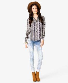 Paisley Stripe Shirt | FOREVER 21 - 2031557347