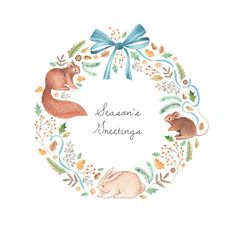 Leading Illustration & Publishing Agency based in London, New York & Marbella. Baby Illustration, Illustration Artists, Floral Illustrations, Valentines Watercolor, Watercolor Cards, Merry Christmas Background, 1st Christmas, Christmas Stuff, Christmas Ideas