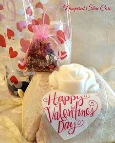 Valentine's Day Gift  White Rose Scented by PamperedSkinCare