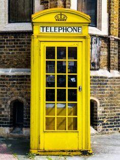 Red phone booth in london painted yellow - city of london - uk - england - united kingdom - europeby philippe hugonnard Yellow Aesthetic Pastel, Orange Aesthetic, Aesthetic Colors, Aesthetic Vintage, Aesthetic Pictures, Aesthetic Grunge, Aesthetic Dark, City Aesthetic, Aesthetic Collage