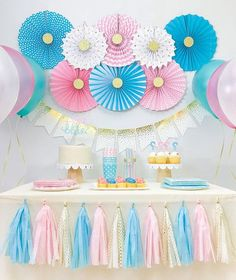 Gender Reveal Baby Shower Decorations, Boy and Girl Twins Birthday Party Decorations, Pink and Blue Party Decorations, Party Kit by SparklyPartyKit on Etsy Make your guests guess the gender of your baby! Celebrate gender reveal or your twins birthday Blue Party Decorations, Gender Reveal Party Decorations, Baby Gender Reveal Party, Gender Party, Baby Shower Decorations For Boys, Baby Shower Themes, Shower Ideas, Decoration Party, Birthday Party Decorations Diy