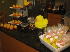Duck dessert table Dessert Table, Chocolate Fondue, Baby Shower, Desserts, Food, Baby Sprinkle Shower, Tailgate Desserts, Meal, Bar Cart