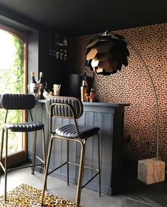 Eclectic, Dark & Glamorous Home Tour - Sally Worts - The Interior Editor - Eclectic, Dark & Glamorous Home Tour – Sally Worts - Home Bar Rooms, Diy Home Bar, Home Bar Decor, Bars For Home, Home Decoration, Home Bar Sets, Bar Interior, Interior Styling, Interior Design
