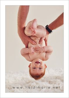 7 month upside down baby