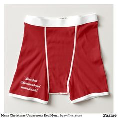 Mens Christmas Underwear Red Mens Boxer Dear Santa Boxer Briefs Men's Briefs, Boxer Briefs, Mens Christmas Underwear, Funny Underwear, Dear Santa, Design Your Own, Gym Shorts Womens, Stylish, Cotton