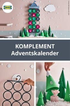 Advent calendars for children tinker with KOMPLEMENT hangers - Diy Gifts Advent Calendars For Kids, Diy Advent Calendar, Christmas Night, Christmas Diy, Holiday, Diy Presents, Diy Gifts, Calendrier Diy, Pallet Tree