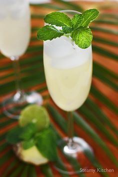 Sparkling Ginger Lime and Mint Cooler (1 (3-inch) piece peeled fresh ginger, 1/2 cup coarsely chopped fresh mint leaves, 1/2 cup fresh lime juice (about 6 limes), 6 cups sparking water or club soda, 1/2 cup sugar, pinch of salt, and pinch of freshly ground black pepper)