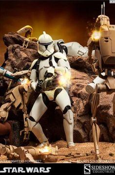 Clone trooper brillante dlx fig 30 cm #StarWars #SideShow sixth scale figure - RESERVA -