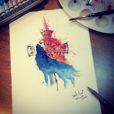 Wolf art / Ilustration By @dn_alves    Daniel R Alves São Paulo/BR
