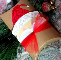 3 LARGE Christmas Pillow Boxes  Christmas Gift Boxes  by Pedoozle