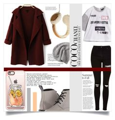 """""""#170) CARDIGAN FOR FALL"""" by fashion-unit ❤ liked on Polyvore featuring Max&Co., Topshop, UGG, Dr. Martens, Converse, Casetify, Chanel, contest and velvet"""