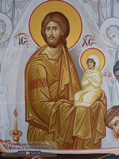 Christ existed before the creation of Theotokos Religious Icons, Religious Art, Greek Icons, Byzantine Icons, Orthodox Christianity, Madonna And Child, Art Icon, Orthodox Icons, Blessed Mother