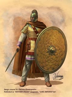 Roman Praetorian Guard, IV cent. AD