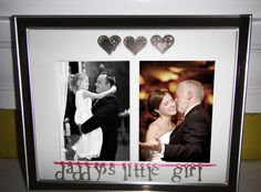 Daddy's Little Girl Personalized Picture Frame...precious Father's Day idea ♥