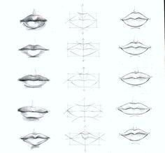 Resultado de imagen de como dibujar labios paso a paso