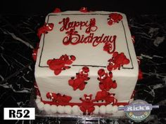 Little razorbacks on a cake by Rick's Bakery