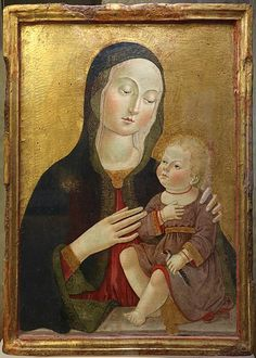 Benvenuto di Giovanni, Madonna col Bambino, xv secolo, Museo del Colle del Duomo (Viterbo)