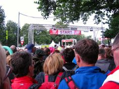 Start of the Nijmegen March in the Netherlands, 4 days, 40 km/day