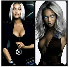 Bey as Storm from xmen