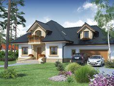 Projekt domu DA Fidiasz 2 - DOM DS1-59 - gotowy projekt domu Dream Home Design, House Design, Cottage Style Homes, Garden Landscape Design, Pool Designs, House Front, Home Fashion, Home Builders, Beautiful Homes