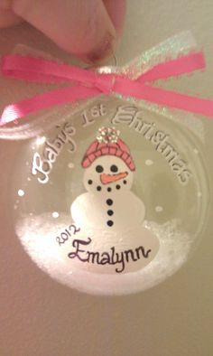 Babys First Christmas Ornament by SeasonalExpress on Etsy, $10.00