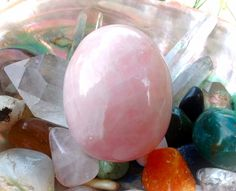 Large Drilled Rose Quartz Yoni Egg (GIA Certified, Vertically Drilled) LDRQ 3 by TheWomanWhole on Etsy #YoniEggs #CosmicYoniEggs #RoseQuartzYoniEgg #CrystalEgg #TheWomanWhole