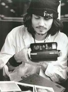 Johnny Depp + polaroid