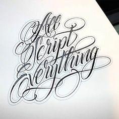 #script Chicano Tattoos Lettering, Tattoo Lettering Styles, Script Lettering, Graffiti Lettering, Lettering Design, Typography Letters, Chicanas Tattoo, Tattoo Script, Tattoo Fonts