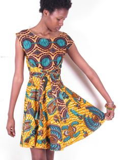 a621461ee1 Bold Vintage 50s Inspired Bright African Wax Print by tribalgroove