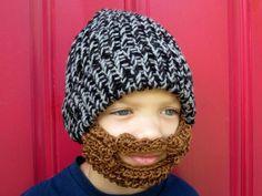 little man bearded lumberjack hat  youth size by taraduff on Etsy, $43.00