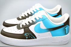Air Force 1 x Carolina Panthers customs by @customsneakers_muc40 made with #JacquardProducts
