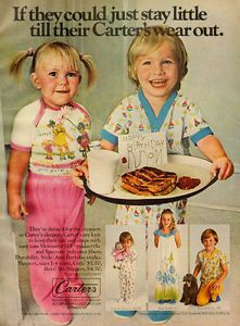 carters+vintage+ads | 1974 vintage Ad, CARTER'S, children's pajamas, sleepwear -102313 ...