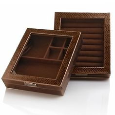 Hsn Jewelry Boxes Enchanting Colleen's Prestige™ Animalprint Large Stackable Jewelry Box At Hsn Design Inspiration