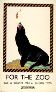 For the zoo; Sealion Ruth Sandys 1925