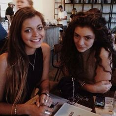 Lorde and friend