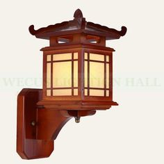 Asian Lamps, Craftsman Lighting, Bedside Wall Lights, Appliques Murales Vintage, Architectural Scale, Bamboo Light, Wooden Lamp, Japanese Architecture, How To Antique Wood