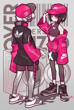 par0llel (@par0llel) | Twitter parejas Cute Art Styles, Cartoon Art Styles, Drawing Anime Clothes, Manga Drawing, Manga Clothes, Kleidung Design, Art Anime, Art Reference Poses, Kawaii Art