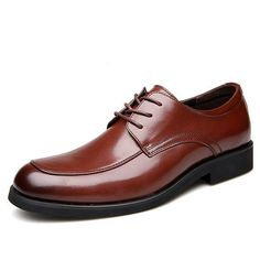 8e7a05d23a6 Men Round Toe Classic Lace Up Business Casual Shoes  FormalShoes Leather  Flats