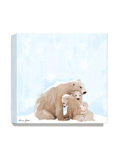 Antonia Press  Polar Bears Canvas Print