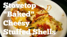 """Use your leftover spaghetti sauce to make stuffed shells on that are """"baked"""" on the stove top.   www.mapleleafmommy.com"""