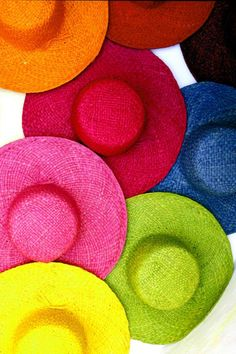 Colorful Hats, I used to sell hats like this in the Spring and Summer in my fashion boutique, the colours were always eye catching.
