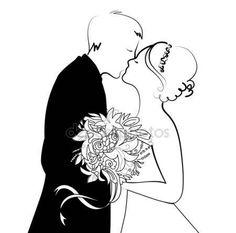 Pobieraj - Czarno-białe ślubne tło — Ilustracja stockowa #7401564