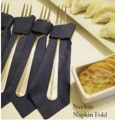 necktie napkin fold