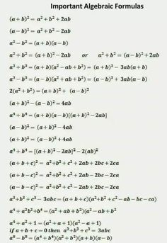 Education Discover Ssc adda: algebraic formulas part physics formulas maths algebra formulas algebra Geometry Formulas Physics Formulas Maths Algebra Formulas Mathematics Geometry Maths Solutions Math Notes School Study Tips Math Vocabulary Gre Math Geometry Formulas, Math Formulas, Mathematics Geometry, Life Hacks For School, School Study Tips, High School Hacks, Math Formula Chart, Math Tutorials, Maths Tricks